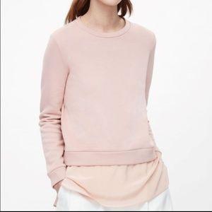 COS silk panel sweatshirt